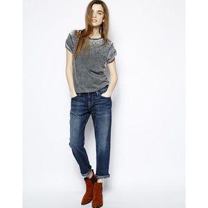 🔸Current Elliott Medium Wash Boyfriend Jeans